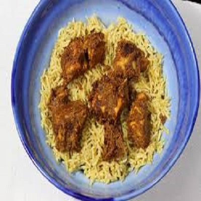 Natukodi Fry Biryani (Chicken with bone)